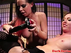 female dominance trio lesbos tough strap dildo pulverize session