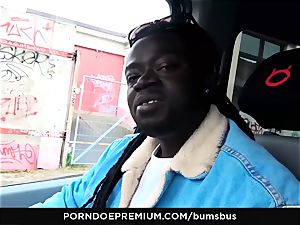 arses BUS - mischievous nymph multiracial fuckfest and cum on titties