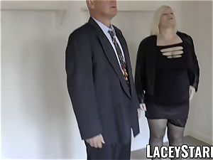 LACEYSTARR - Mature English stunner torn up and facialized
