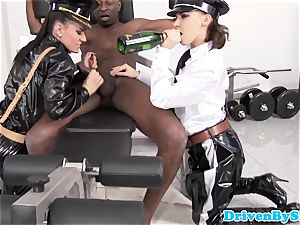female domination stunners big black cock victim jizzes on their boots