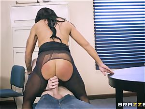 40-year-old assistant Simone Garza seduces her youthful chief Danny D