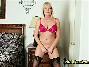 fill Up the Strippers wide open cunt with Ms Paris Rose