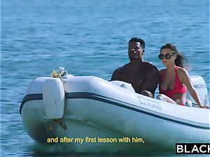 BLACKED brilliant assets bombshell humps Her big black cock Diving Coach