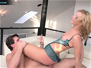 ultra-kinky Jessie Rogers dumping all over the place