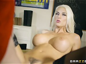 flawless body tutor gets double intrusion in the classroom