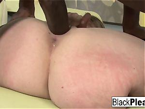 supple Megan Reece sucks and ravages the dark-hued man meat