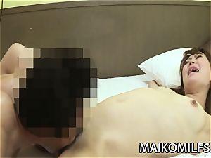 Hiroko Nagatomo - mischievous JAV wife unshaved labia Creampied