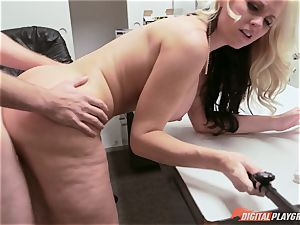 Selfie stick fucking with insane light-haired sweetheart Alena Croft
