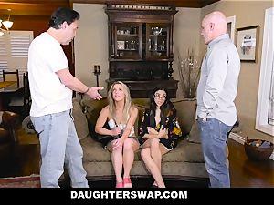 DaughterSwap Daddies plumb Each Others tart daughters-in-law
