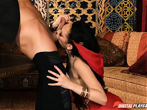Arabian scorching molten poon delights with Aria Alexander