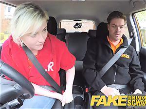 fake Driving school Back seat snatch blasting