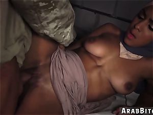 Maid bangs for money and inexperienced army uniform The arse spurt point, 23km outside base