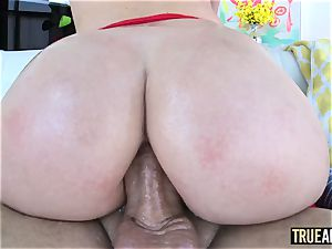 TRUE anal invasion nailing and filling Daisy Stones ass with cum